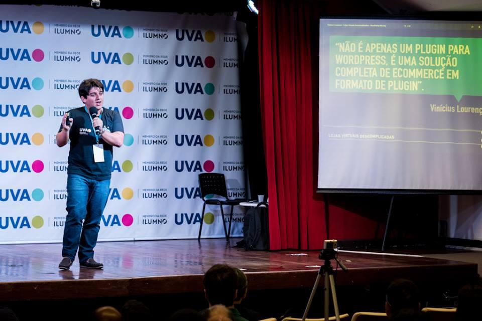 Vinícius Lourenço – Palestra sobre lojas virtuais descomplicadas com WooCommerce no WordCamp Rio de Janeiro 2016